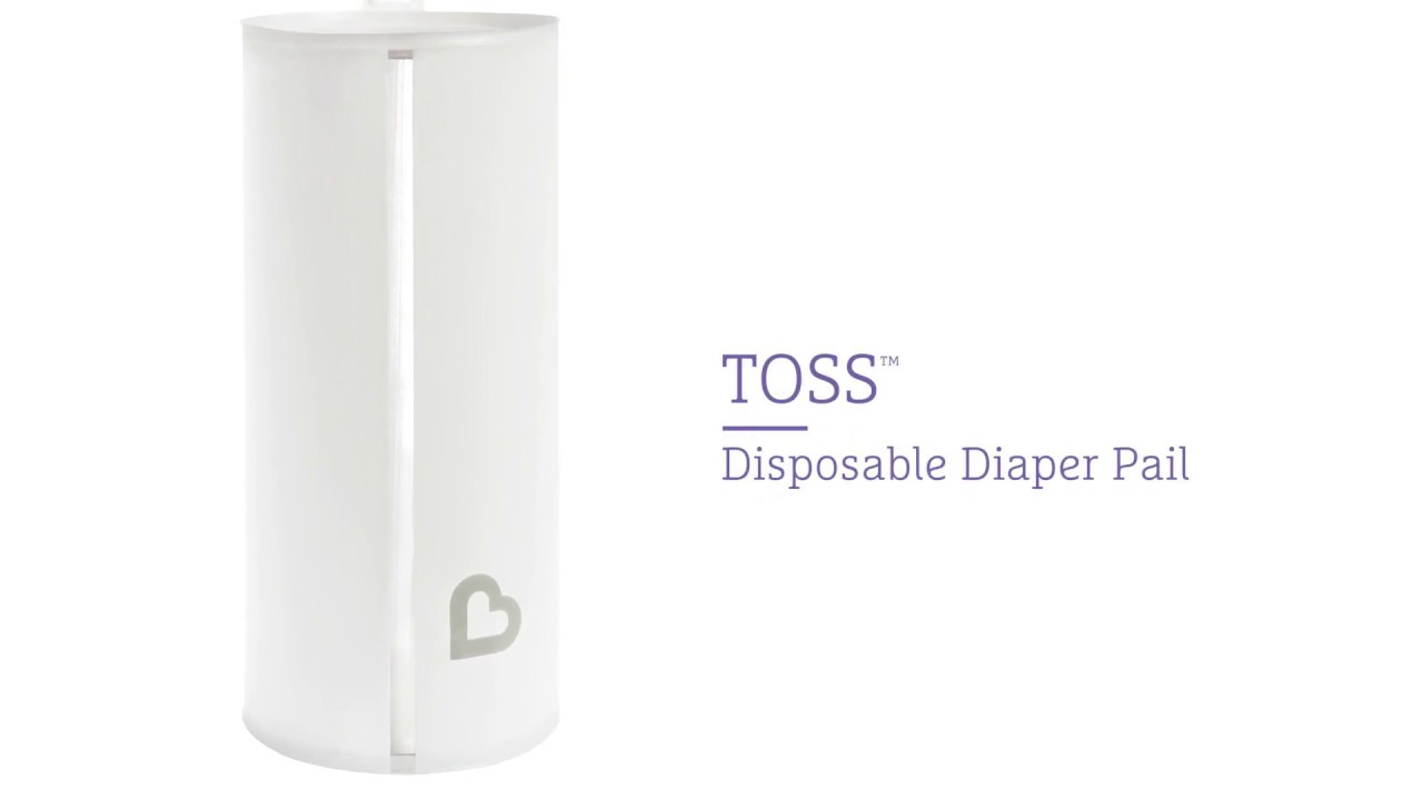 NEW from Munchkin – Toss™ Portable & Disposable Diaper Pail