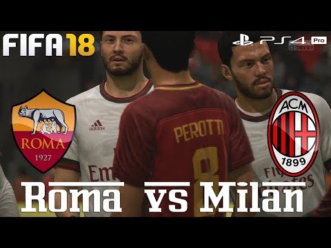 Fifa 18 (ps4 pro) roma v ac milan | serie a prediction |25/2/2018 |1080p 60fps