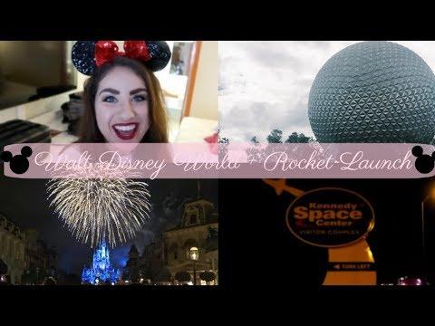 Walt Disney World & Rocket Launch || Alexandria Travels