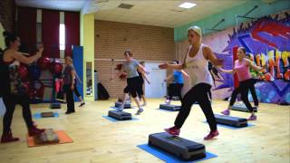 СТЕП аэробика (продвинутый уровень) STEP aerobics (advanced) super fitness class by IRYNA BUIKO