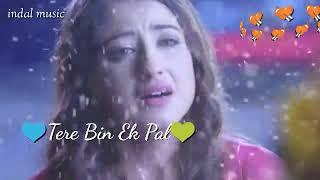 👫Tere bin ek pal 💖  hindi ringtone🎻 sed song 🎶   WhatsApp💚 status 💛video 📷