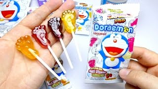 Doraemon Bigfoot Rainbow Lollipop & Cup Chocolate from Japan