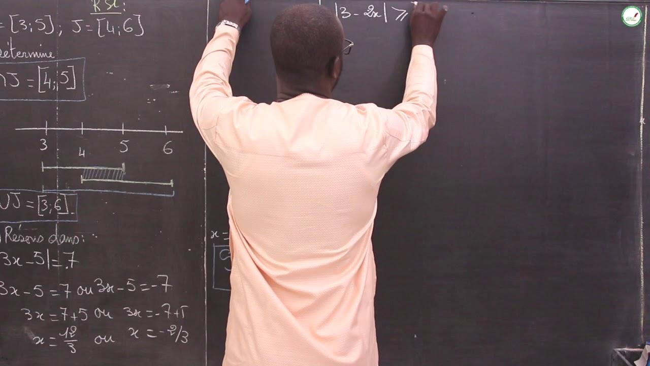 Exercices Seconde S Mathematiques Synthese Calcul Dans R Et Intervalles Dans R Vectorielle S1 Youtube