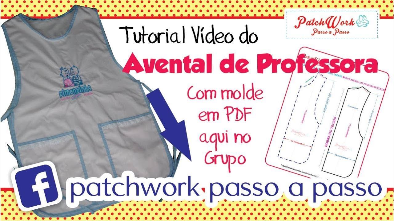 Avental De Professora Com Molde Em Pdf Youtube