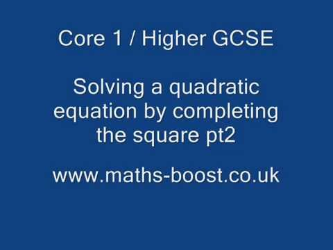 Solve a quadratic equation like 2x² -4x -7 = 0 by completing the ...