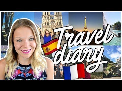 TRAVEL DIARY / JOURNAL DE VOYAGE ✈️ : 3 semaines en Europe (France et Espagne) 🇫🇷🇪🇸