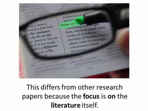 Literature Reviews: How to find and do them