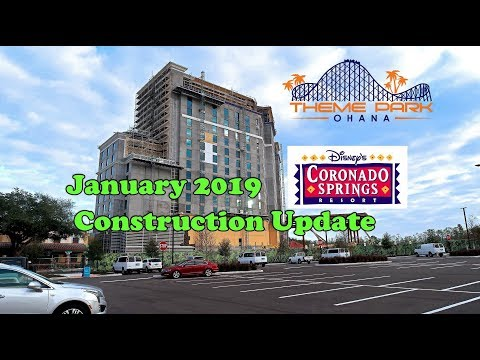 Disney's Coronado Springs Construction Update January 2019 and Breakfast tour!