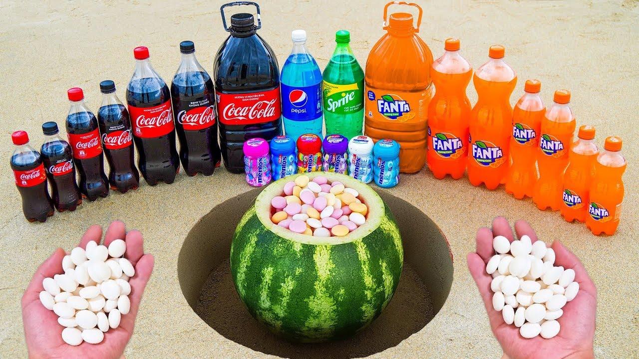 Watermelon Test vs Coca Cola vs Mentos Test 2021