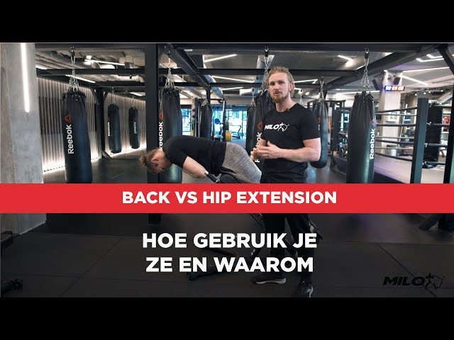 Back extension vs Hip extension ⠀