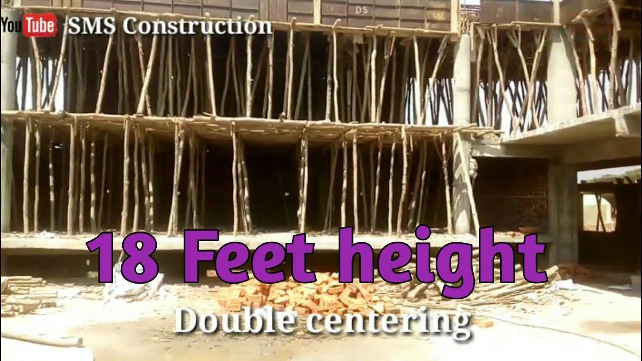 12 feet height slab concrete   formwork concrete construction   working  process