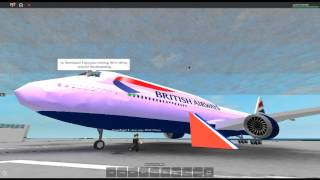 Volo Roblox british airways 747-400!!! (tassare al cancello)