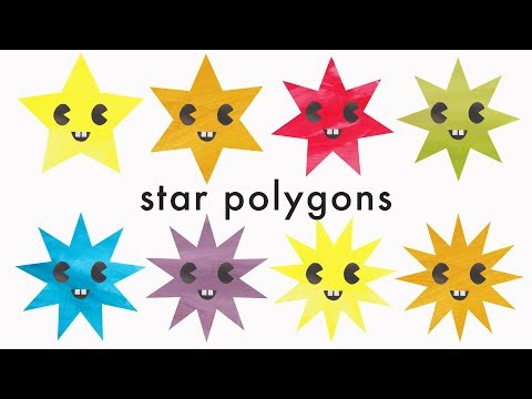 Learn Star Shape Names - Star Polygons for kids Up to 13 sides (Recognising Shapes)