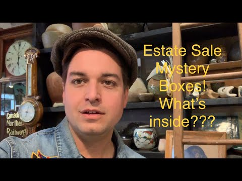 Mystery estate treasures! Sorting through years of estate boxes!