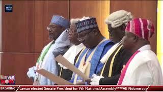 9th Assembly Leadership: Lawan, Omo-Agege elected as Senate leaders