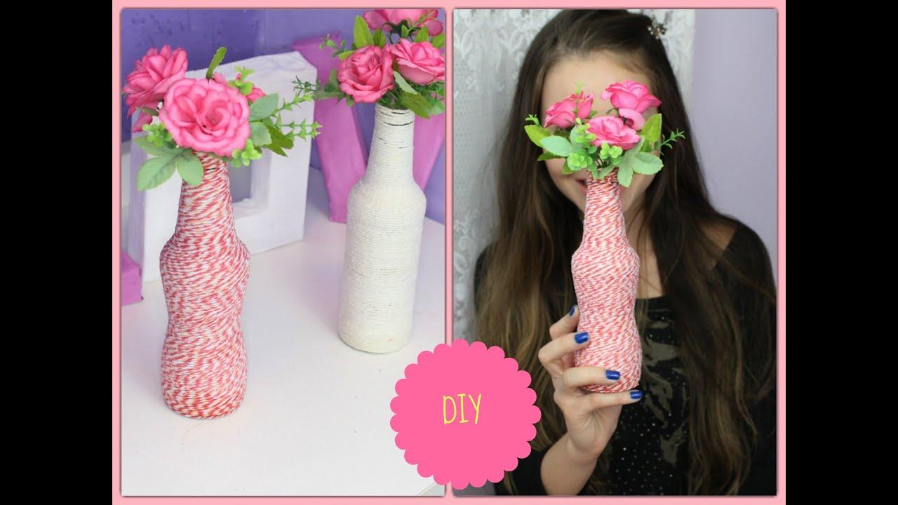Excepcional DIY- Garrafas decoradas com Barbante - YouTube NG21