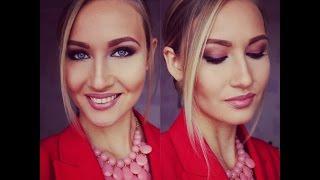 видео Модный макияж с красными тенями