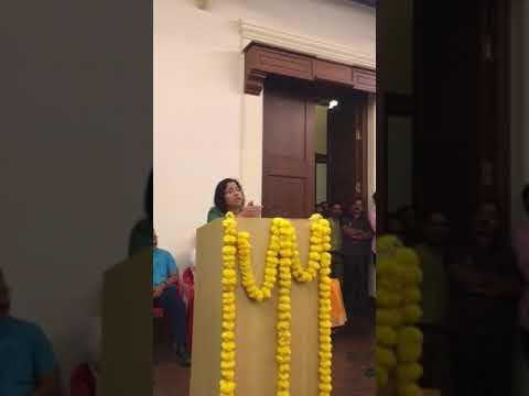 Satara Collector Mrs.Shweta Singhal's speech on Hon.Chandrakant Dalvi Saheb's send off program ..pa