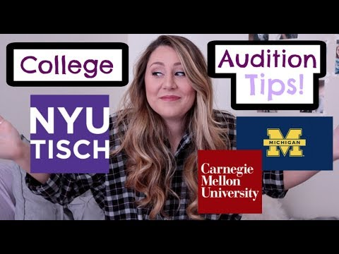 Musical Theatre College Audition Tips // College Life (NYU)