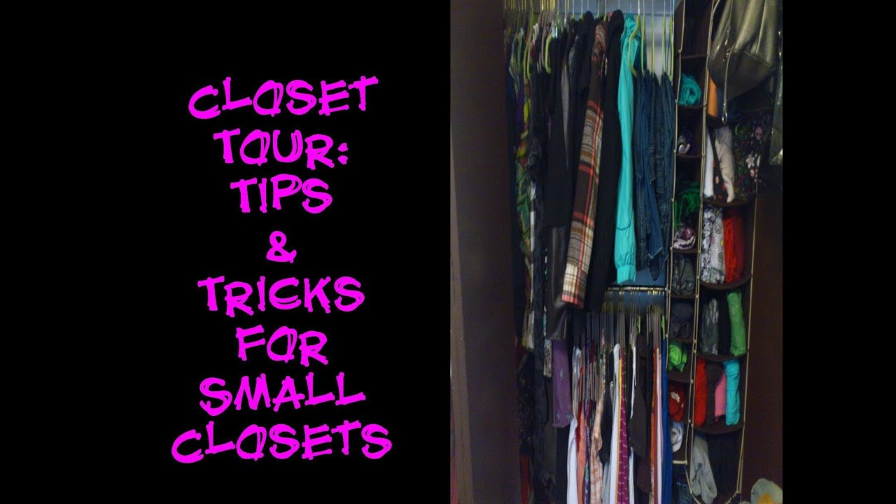 Clothing Organization: Tips on Small Closets - YouTube