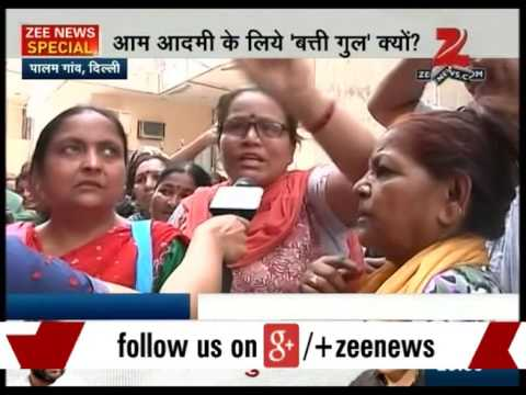 Lack of water and electricity in Delhi