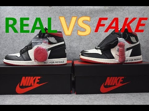 best website 7d0c5 bca4f REAL VS FAKE Jordan 1 Not for Resale