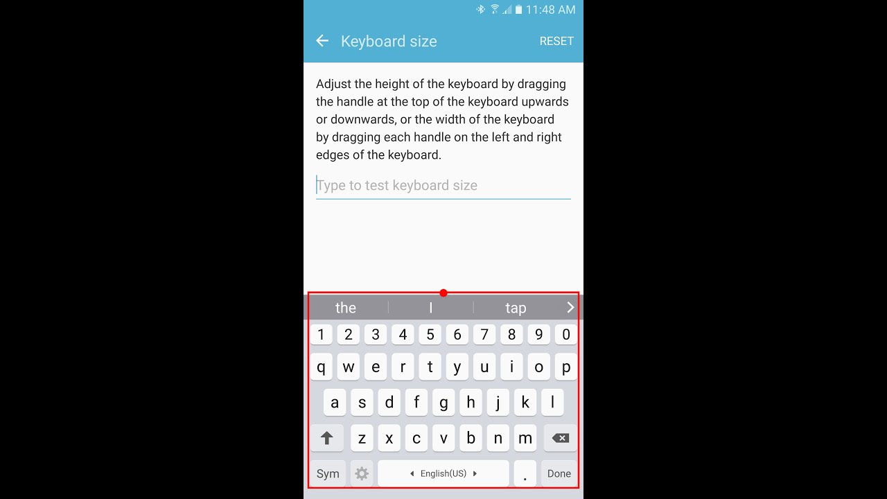 How to change keyboard size larger on samsung galaxy s7edges6 how to change keyboard size larger on samsung galaxy s7edges6note5note4 youtube buycottarizona Choice Image