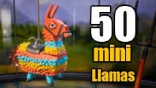 Open 50 mini llamas.   Llama opening in Fortnite PVE #1