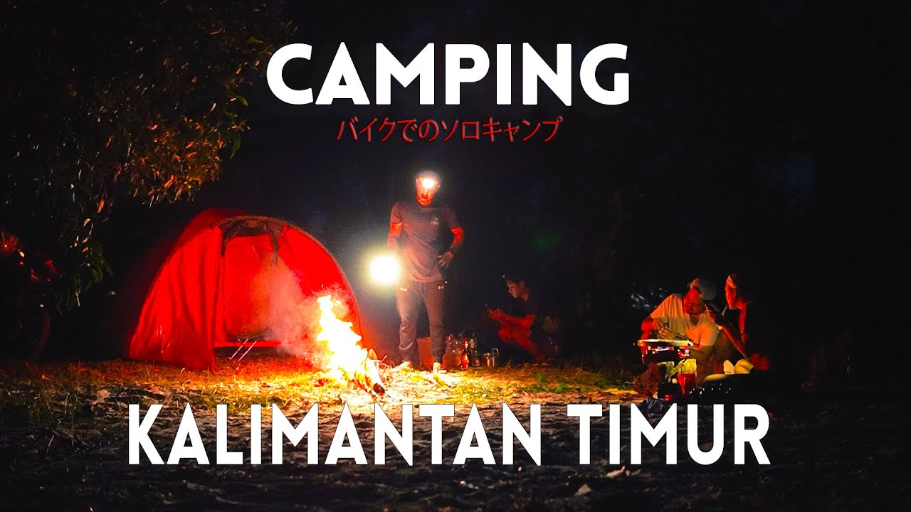 Beach Camping Overnight : Set up a Tent Cooking Relaxing rainy season ASMR // Sangatta Kaltim
