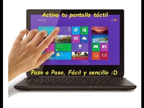 Como activar tu pantalla tactil en Windows 8