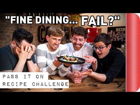 FINE DINING Recipe Relay Challenge | Pass It On S1 E3