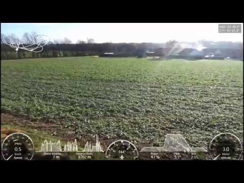Parrot Bebop 2, max speed test with GPS overlay, max Altitude and ReturnToHome