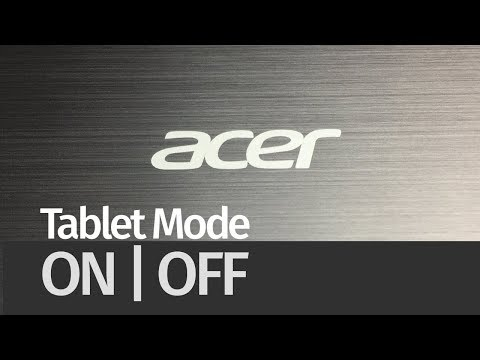How To Turn Tablet Mode ON & OFF - Acer Switch One 10 | Enable Or Disable Tablet Mode