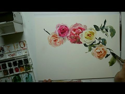 Paint and talk, watercolor roses