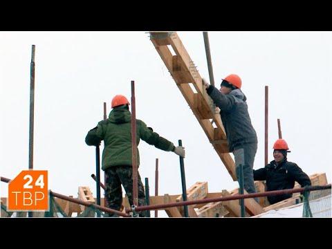 Новую лаврскую гостиницу закрывают кровлей для просушки   Новости   ТВР24   Сергиев Посад