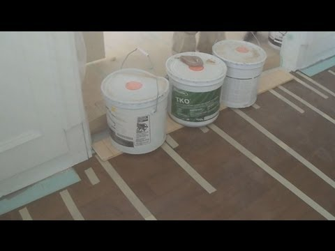 How to Install Engineered Hardwood Flooring on Concrete with a Wood Shim Part 4 of 4