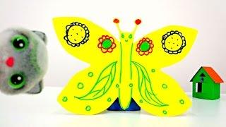 Поделки из бумаги: бабочка. Видео с игрушками