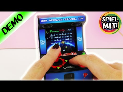 Arcade Machine for Smartphone | Fight Space Invaders with a Joystick | Mini Game Machine