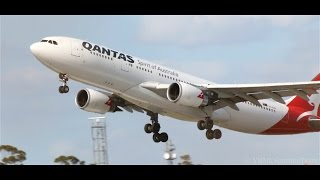 perfect sunny takeoff qantas a330 202 melbourne vh ebh