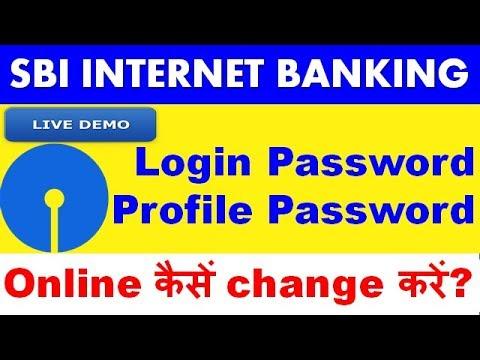 how to change login password sbi net banking