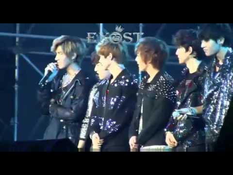 121028 EXO-M talk 엑소엠 멘트 @ Yangtze River Music Festival