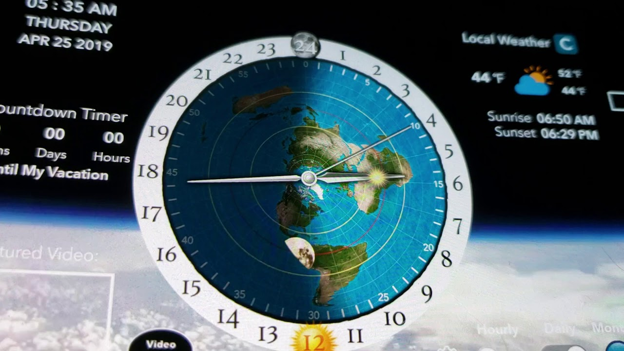 Time lapse sun and moon clock AE Map - YouTube