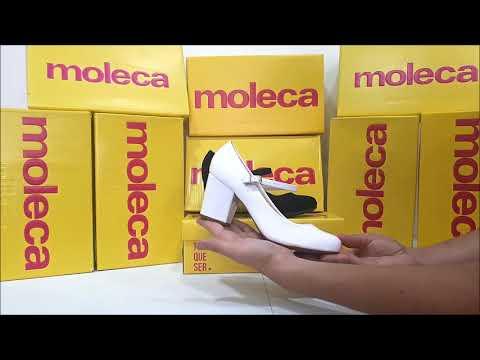 21b8ab63b Sapato Feminino Scarpin Boneca Moleca 5300.311 - YouTube