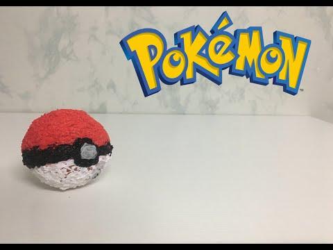 HOW TO MAKE A POKEYMON BALL - 3D PRINTING PEN CREATION