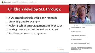 Social and emotional learning in the early years Advancing Learning Webinar