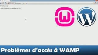 Autoriser les accès (Forbidden) | WampServer