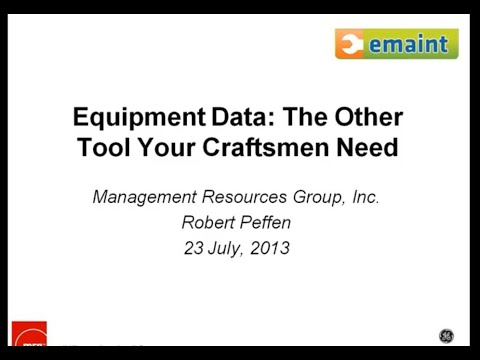 Equipment Data - The Other Tool Your Craftsmen Need