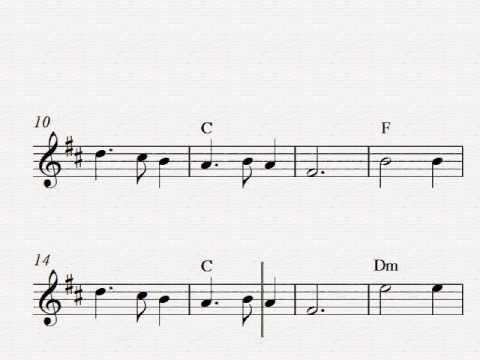 Silent Night - Free easy Christmas tenor saxophone sheet music