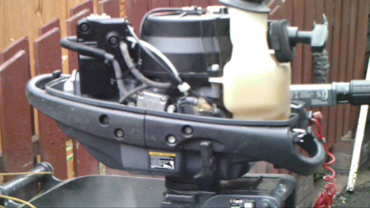 Yamaha 4hp fourstroke outboard started for first time in 6 years youtube