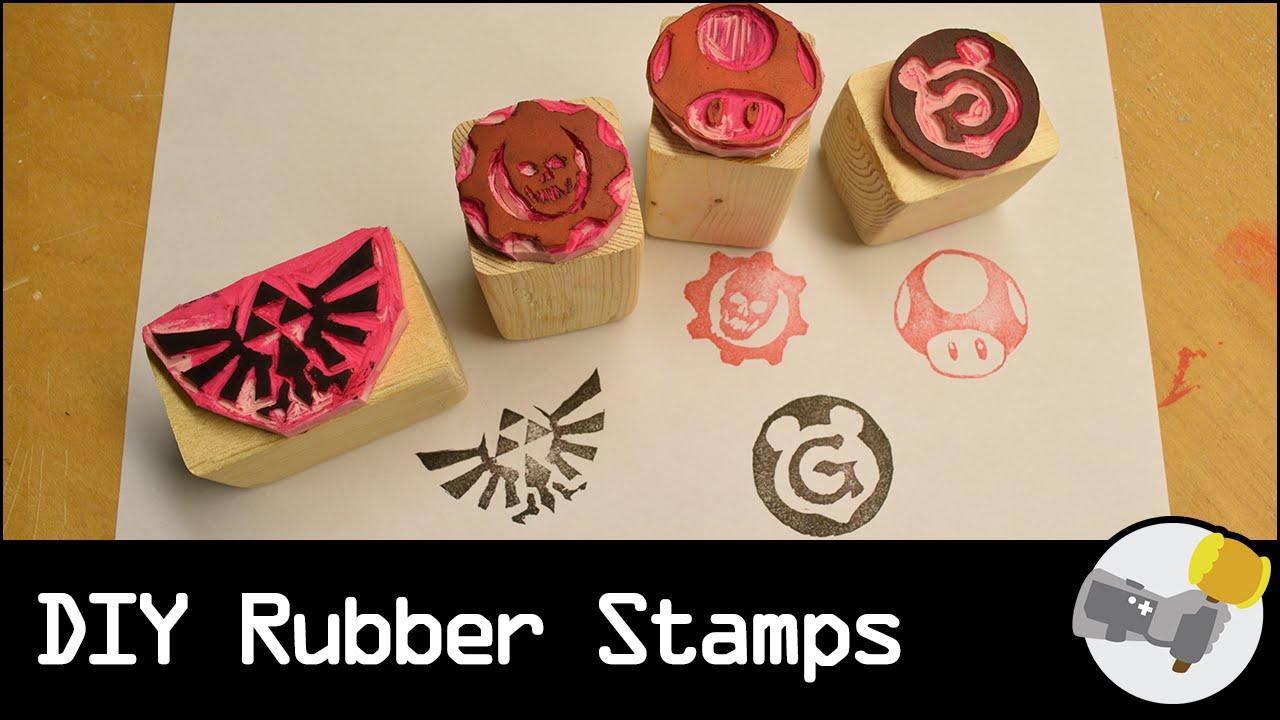 DIY Rubber Stamps LETS MAKE